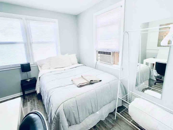 ♥Room#4 Near NYC/EWR airport/Jersey Gardens Outlet
