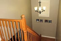 Bedroom is located on the first floor, these are the stairs leading to the first floor.