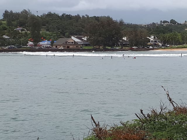 Park and Kalapaki swimming/ paddle boarding/ surfing/ relaxing sandy beach across street