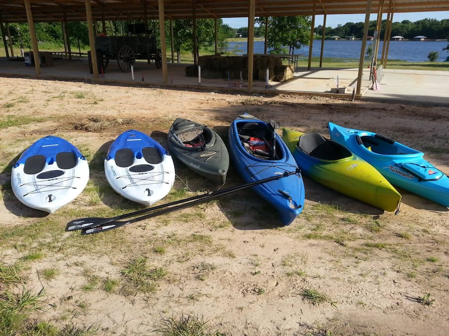Kayaks and Paddle Boards at the ranch