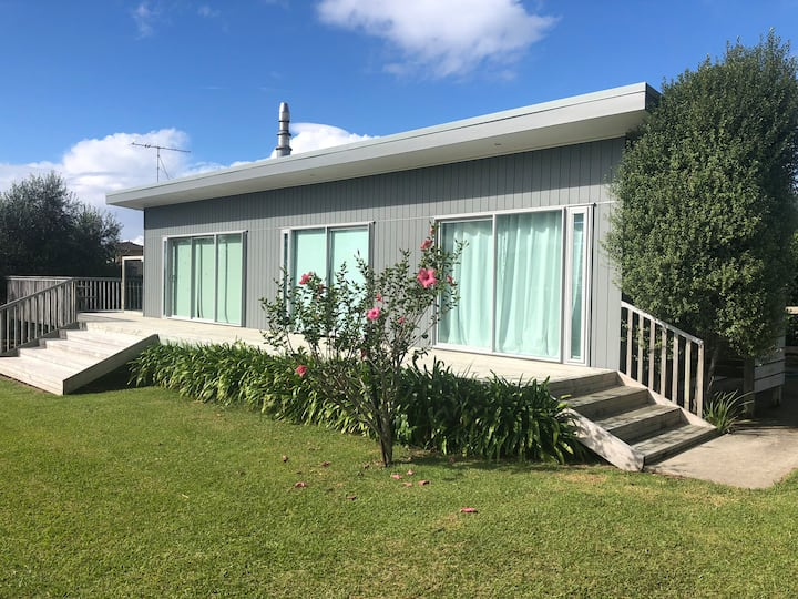 Whangapoua Beach House, fenced