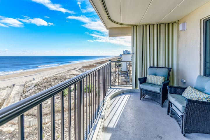 South view from the balcony of this beautiful oceanfront condo