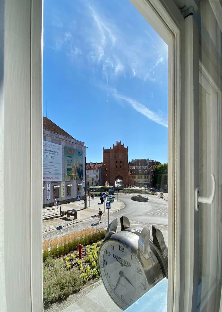 Apartament z widokiem na Wysoką Bramę w Olsztynie