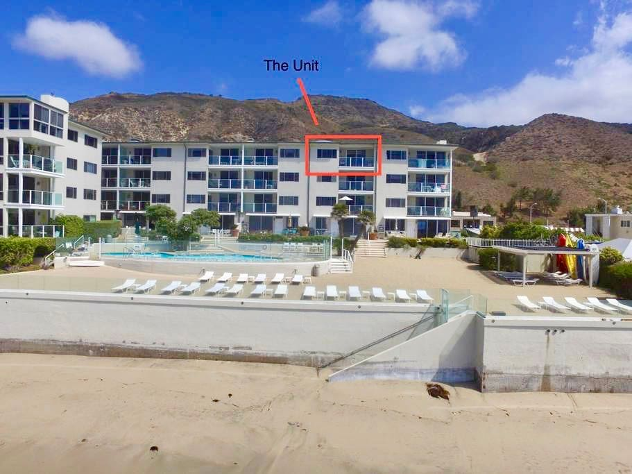 Malibu Terrace is a top floor unit