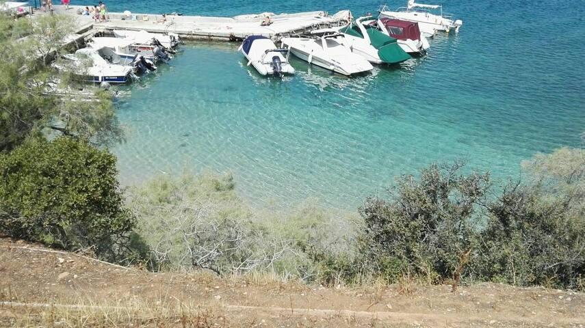 One minute to the wonderfull beach of Kavouri!