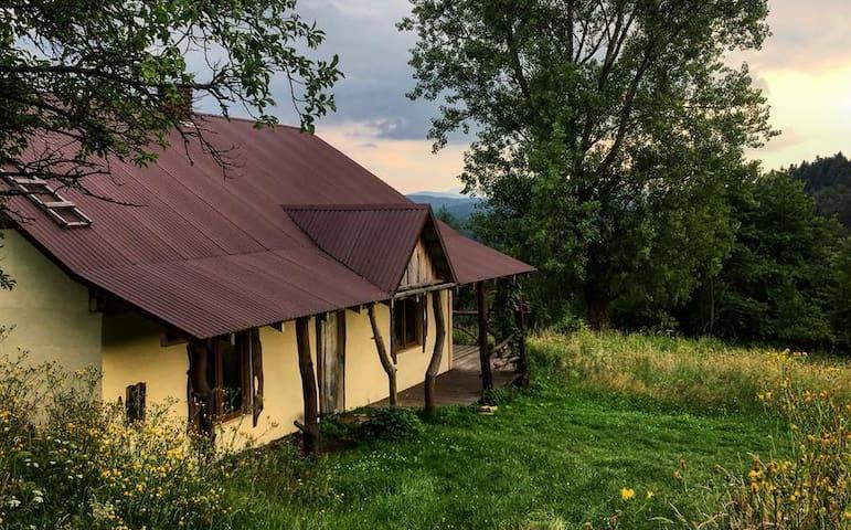 """Rustykalna chata w Bieszczadach """"Dolinki"""""""