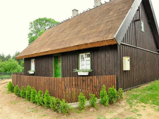 XIX century wooden cottage in Krag