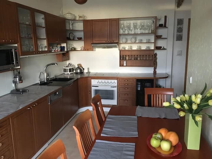 Fully equipped large apartment for 2-4 persons