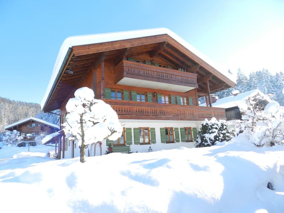Haus Eckhardt im Winter