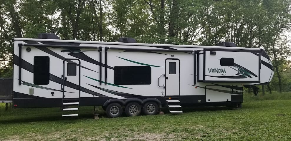 RV by the river