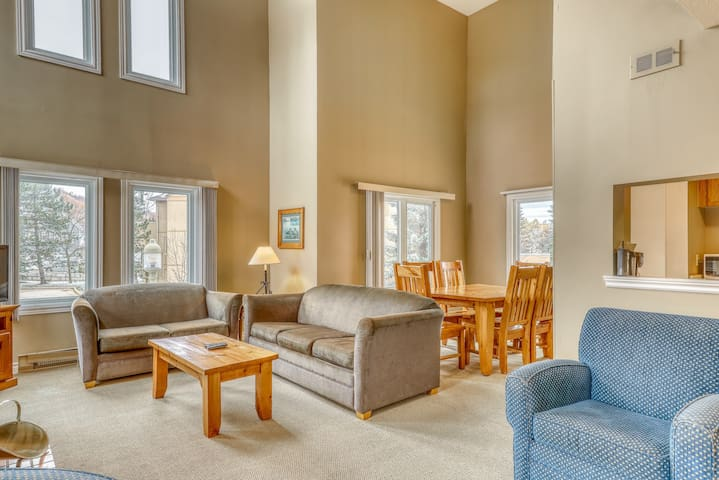 Ideally located condo w/ fireplace - 500 feet to the lifts & Village!