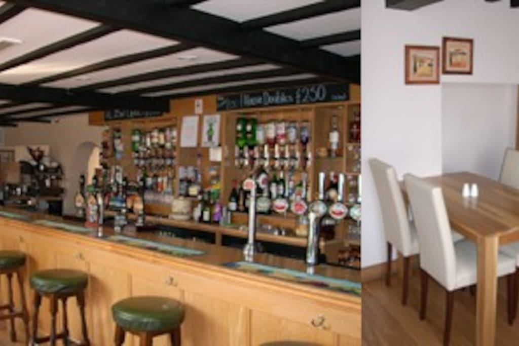 White Lion pub at Toft Monks - 15/20 minute walk away.