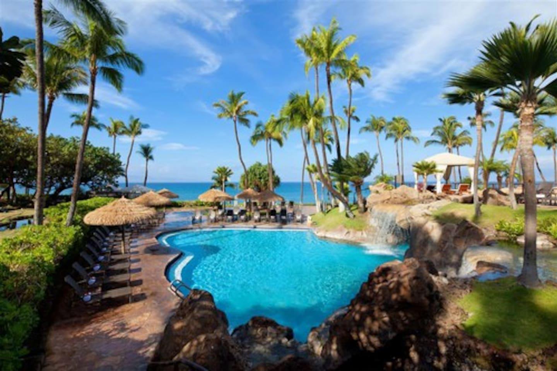 Westin Ka'anapali Ocean Resort. One of several pools