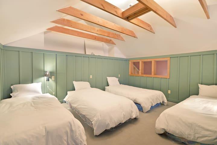 The sleeping loft