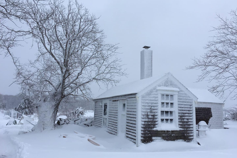 Blacksmith Shop Cottage in winter