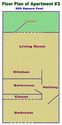 Floor plan of apartment.