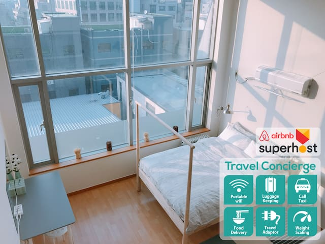 Hongdae/Subway connected/Guest Help service/Mint