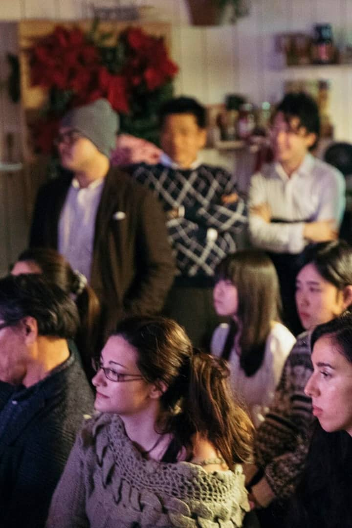 Audience is serious to judge performers