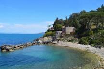 Spiaggia della Bionda-raggiungibile a piedi