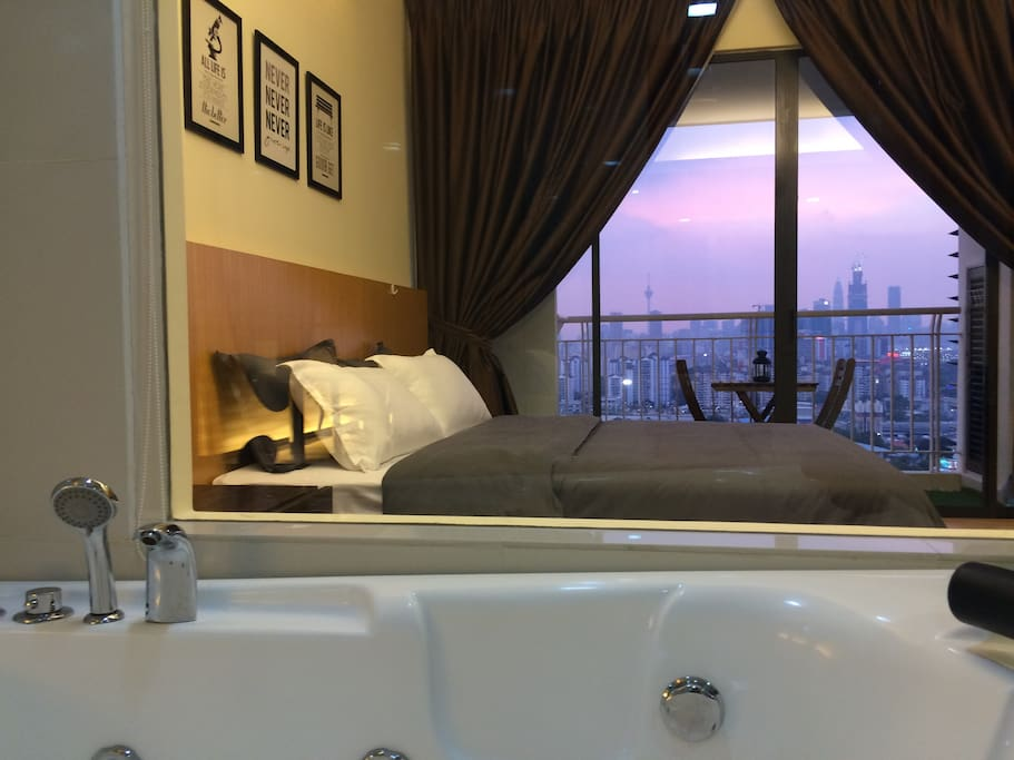 KLCC view from jacuzzi