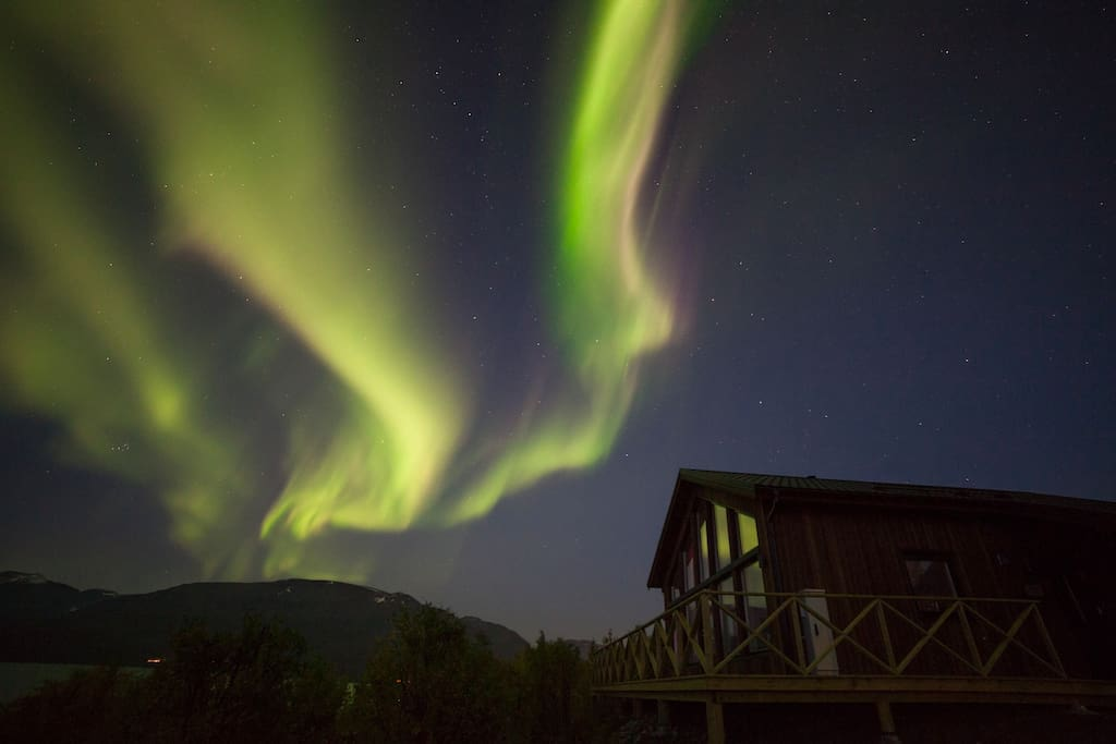 Another amazing display of the Northern Lights above the cabin