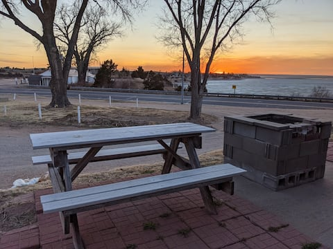 🌊🎣🛶Perch Cabin 🏡 View of Lake McConaughy 🌅