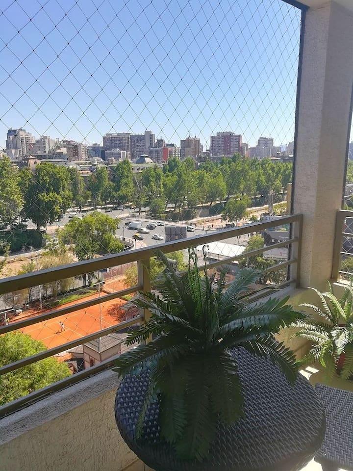 Maravillosa Vista desde la terraza del departamento