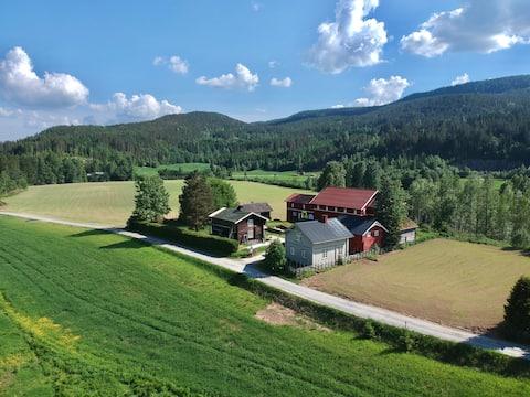 House on historical farm Sigdal / Blaafarveværket