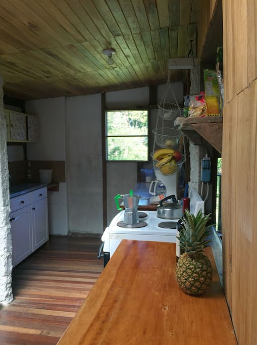 Basic, but spacious Kitchen