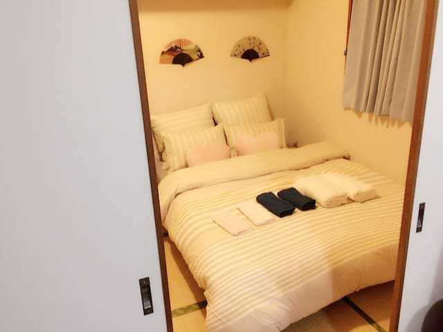 One bed room +One living room (Free Pocket Wifi)