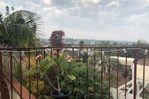 Lovely views from the private master suite deck