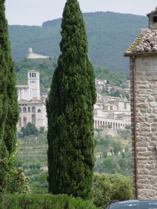 The Torre which looks straight at Assisi