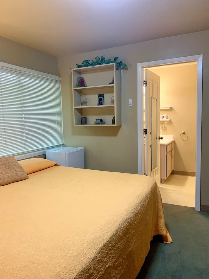 Standard One King Bed & Private Bathroom