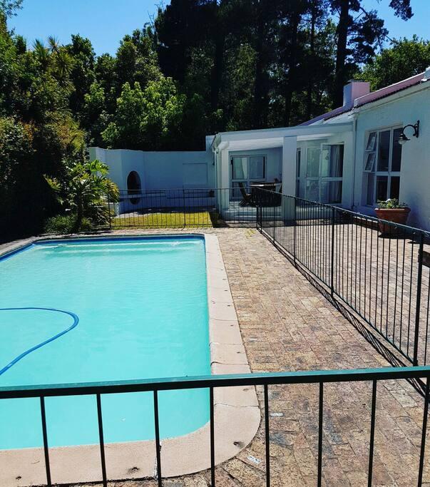 Sheltered pool