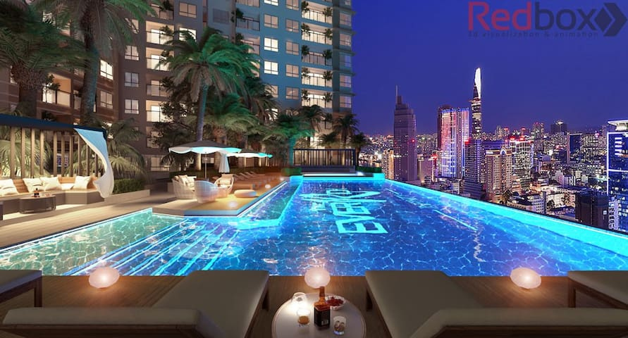 The Ethe Reum 4* Brand new& Luxury 52 sqm+ pool