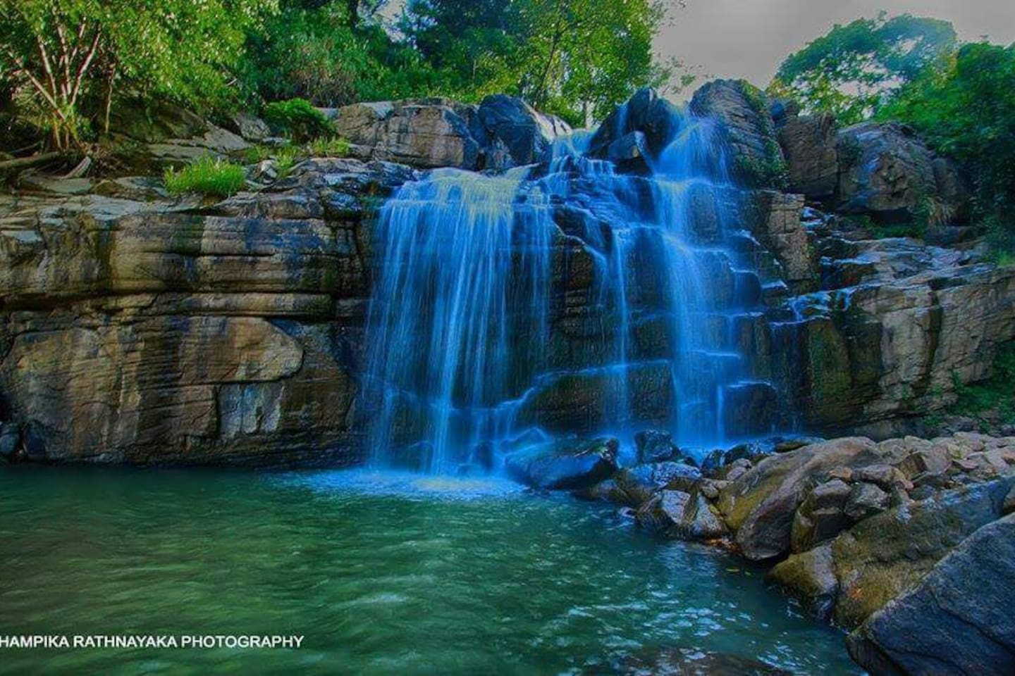 Waterfall with a natural pool.