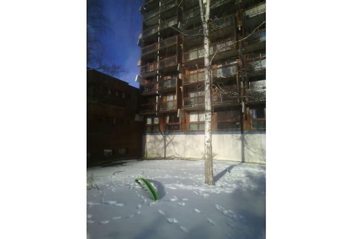 studio équipé 4 personnes   skis aux pieds  1550m - Villarembert - Apartamento