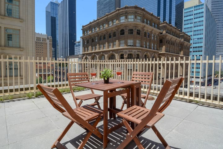 Two bedroom apartment with gorgeous rooftop patio