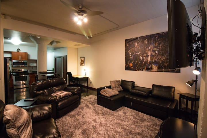 2 blocks to GRB Two Room Loft in Downtown Houston