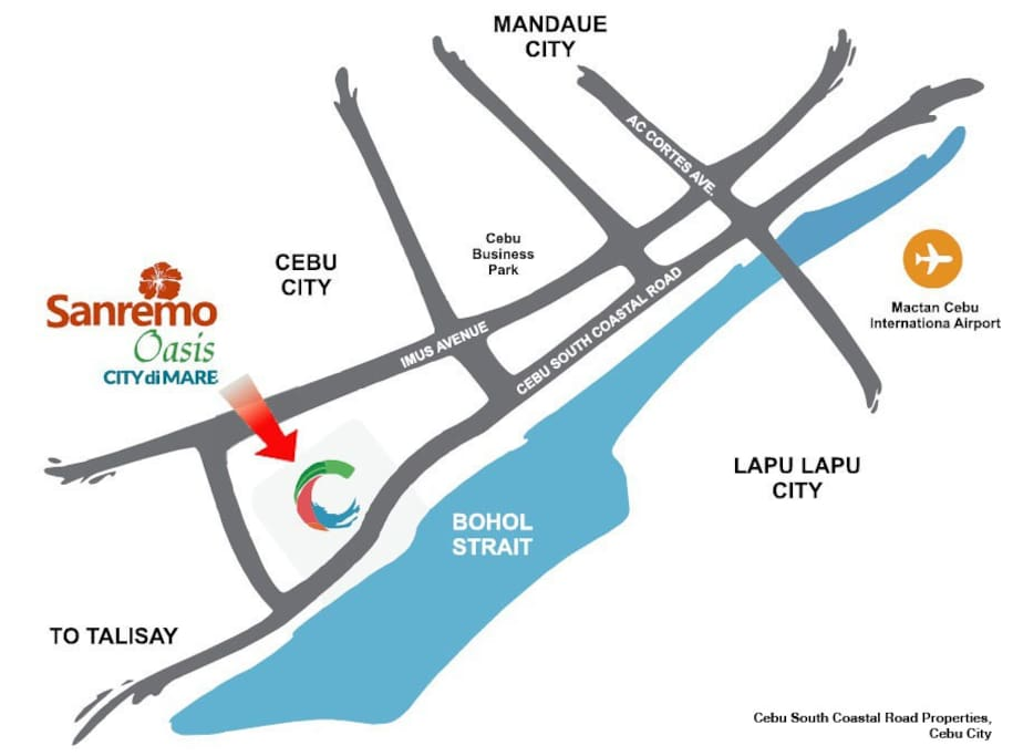 Follow this map to  reach San Remo Oasis at City di Mare!