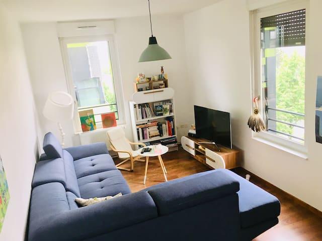 Appartement spacieux et lumineux en centre-ville