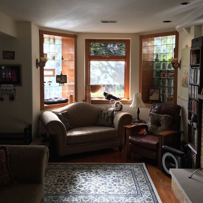 The front room, bright and welcoming.