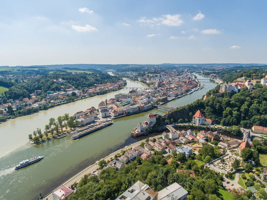 Top-Stadt Passau.