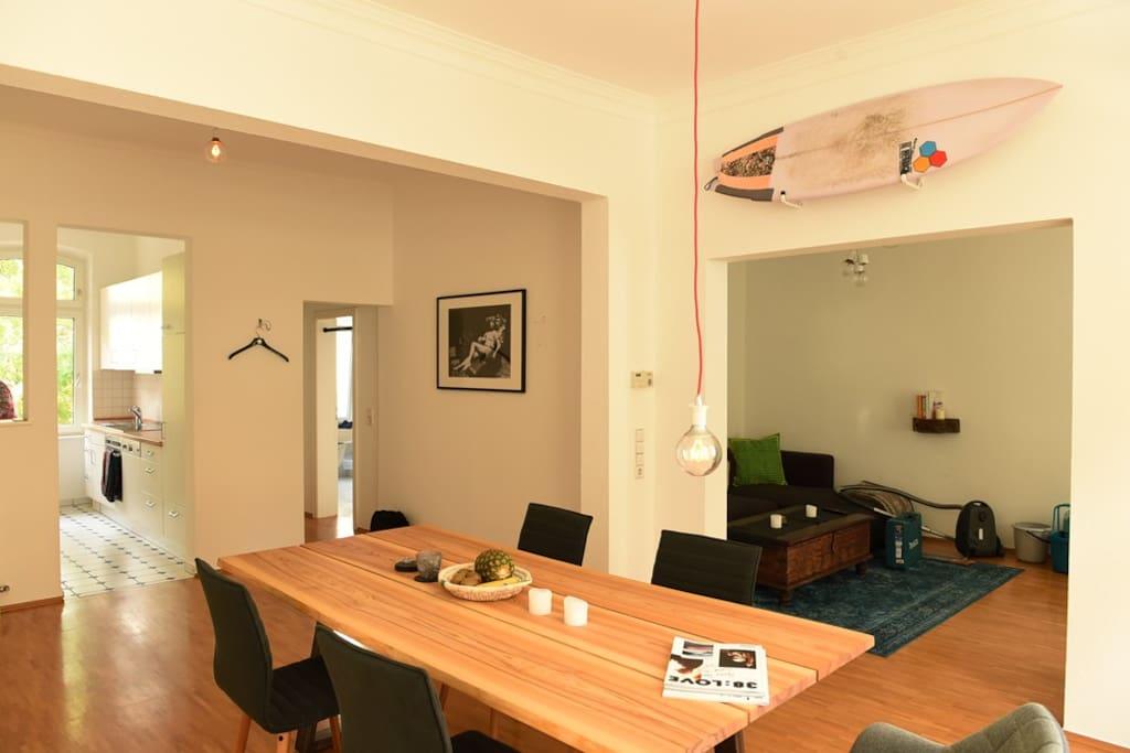 Kitchen,Dining & Lounge Area/Küche, Ess und Lounge Bereich