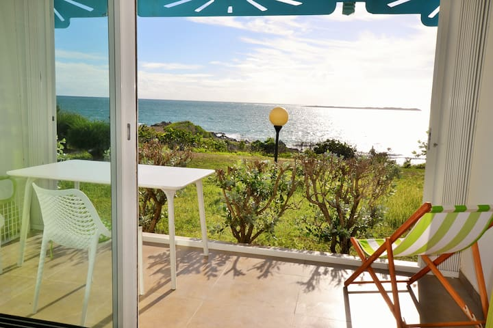 Studio, ocean view, right on Orient Bay beach - Cul-de-Sac - Apartmen
