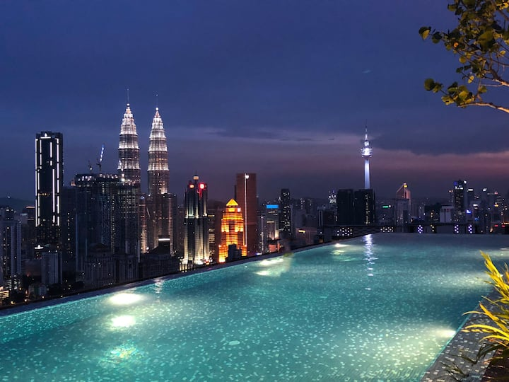 5Pax LUXURY Suite Infinity Pool KLCC View #Loft
