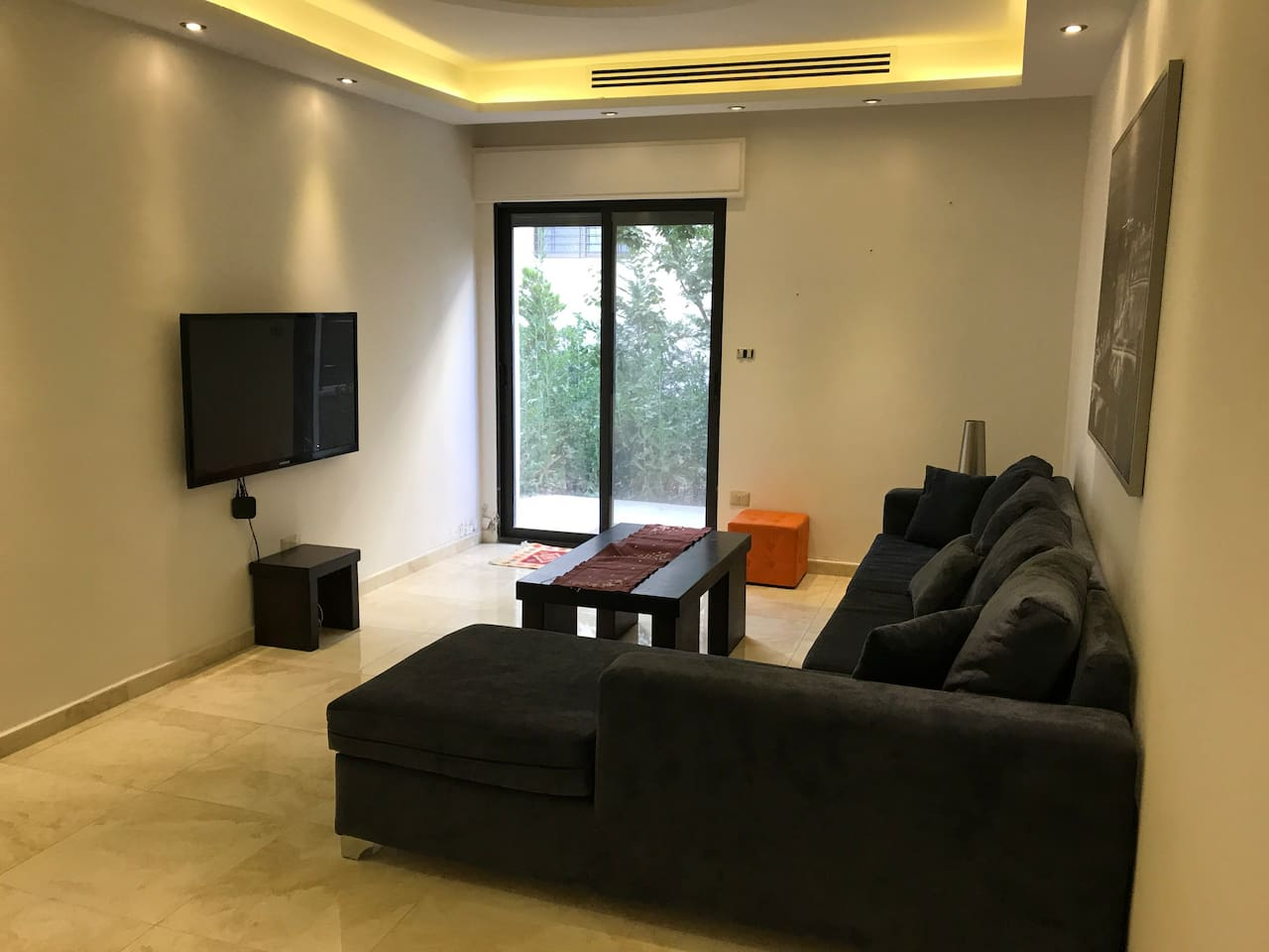 Living Area with access to the Garden
