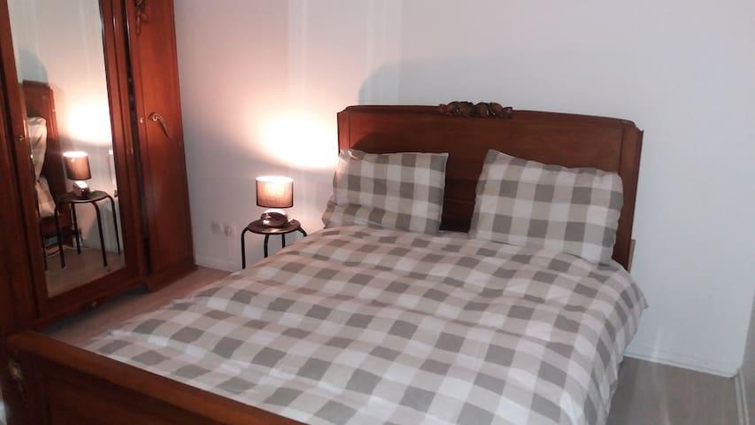 Chambre double equipée dans appartement neuf - Garges-lès-Gonesse - Appartement en résidence