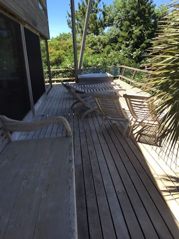 terrace with ocean view