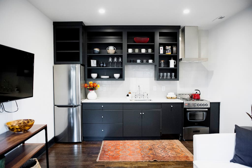 Full Kitchen with complementary coffee